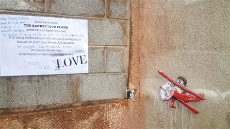 artwork pops   place  missing banksy love plane