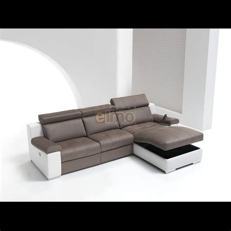canap 233 cuir bicolore relax massant chauffant absolut