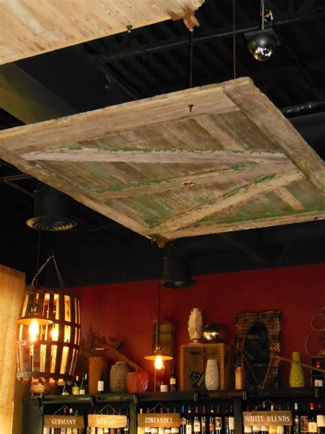 barn door    drop ceiling love diy