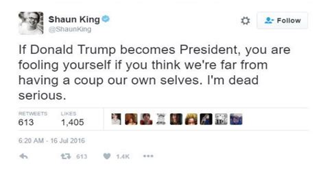 our own selves black lives matter activist threatens coup if is
