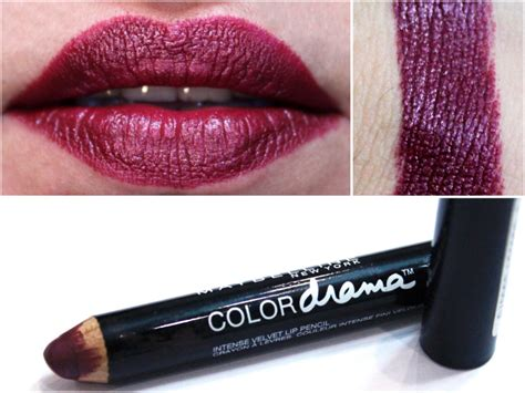 Lipstick Pencil Maybelline maybelline color drama velvet lip pencil berry much review swatches