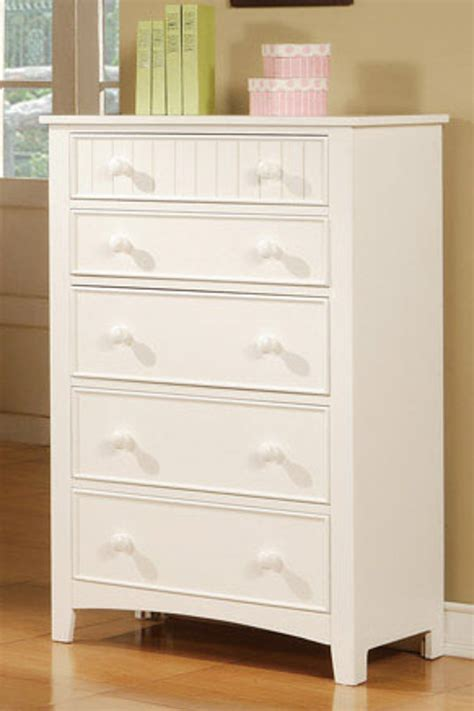 White And Wood Chest Of Drawers by Poundex F4239 White Wood Chest Of Drawers A Sofa