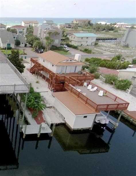 destin house rentals with boat slip holiday isle holiday house close to the beach with a