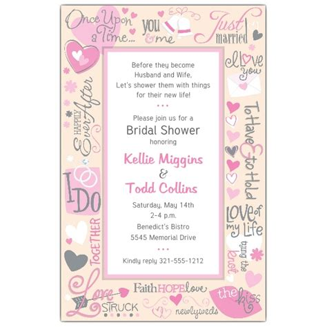 Bridal Shower Wishes For by Wedding Wishes Bridal Shower Invitations Paperstyle