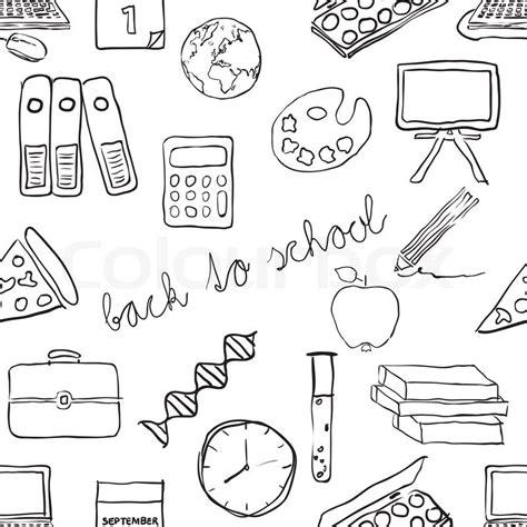 doodle pattern school doodle school seamless pattern stock vector colourbox