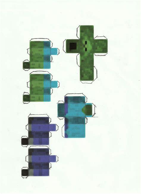 Minecraft Papercraft Pigman - minecraft pigman papercraft www imgkid the