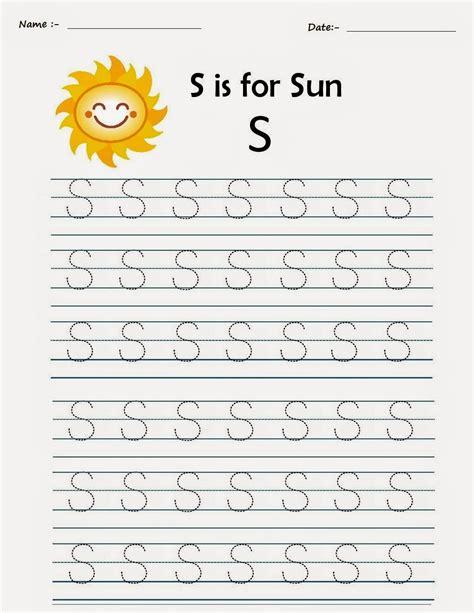 S Worksheet by Kindergarten Worksheets Printable Tracing Worksheets Alphabet S