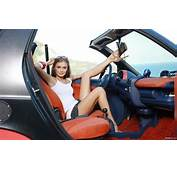 Car And Beautiful Girl Romantic Looks Wallpapers  Lugares
