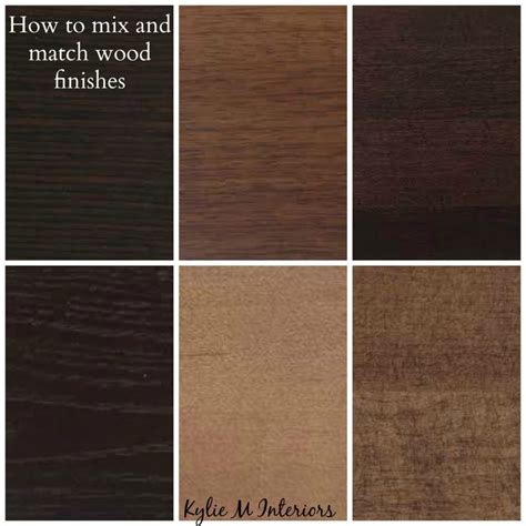 how to mix match and coordinate wood stains undertones stains furniture and cabinets