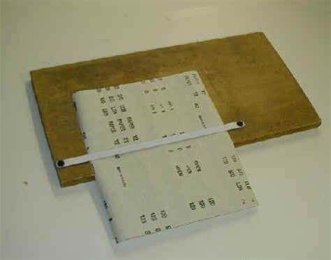 Paper Folding Jig - sand paper cutting jig