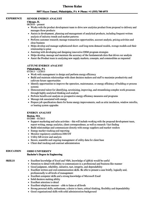 energy auditor resume exles sle engineer exles near