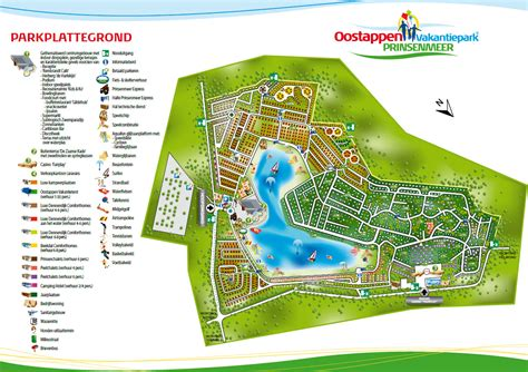 bushalte botanische tuinen vakantiepark prinsenmeer kaart plattegrond de beste