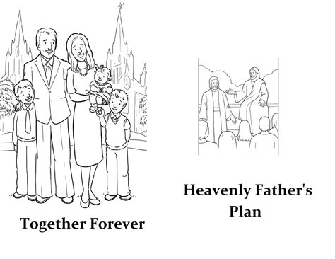 lds coloring pages families can be together forever families can be together forever coloring page coloring pages