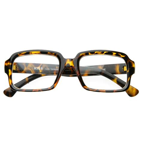 vintage inspired eyewear thick frame bold square clear