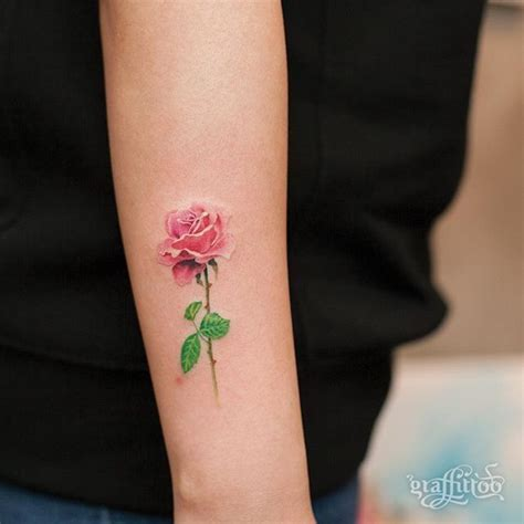 small pink flower tattoos best 25 pink tattoos ideas on colorful