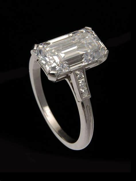 co antique 1920 s deco platinum 3 95 carat