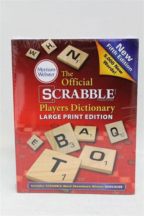 scrabble players dictionary 5th edition new merriam webster the official scrabble players