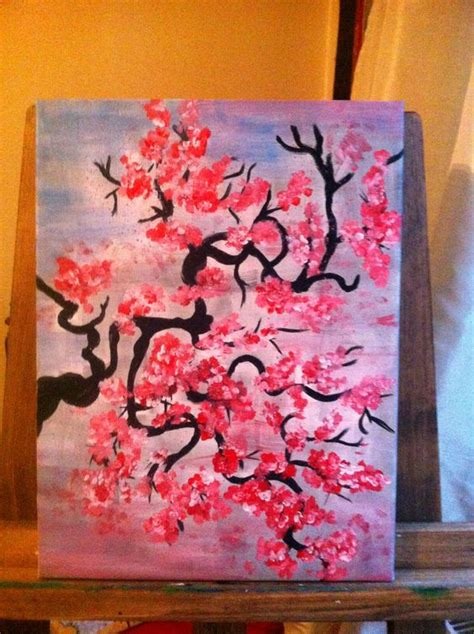 acrylic painting hobby ideas acrylic painting cherry blossom my paintings
