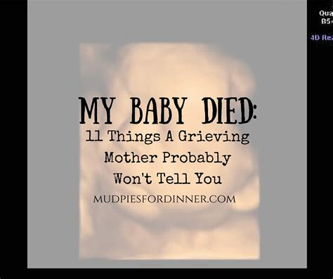 my died my baby died 11 things a grieving probably won t tell you mud pies for dinner
