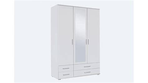 kleiderschrank mit spiegel und schiebetüren kleiderschrank rasant wei 223 mit spiegel b 127 cm