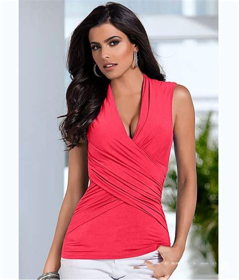 Blouse Wanita Garlique Black Amadora Top kaos slim wanita sleeveless top size s t shirt