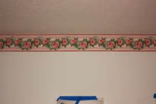 room border makeover flowers edition living room ceiling