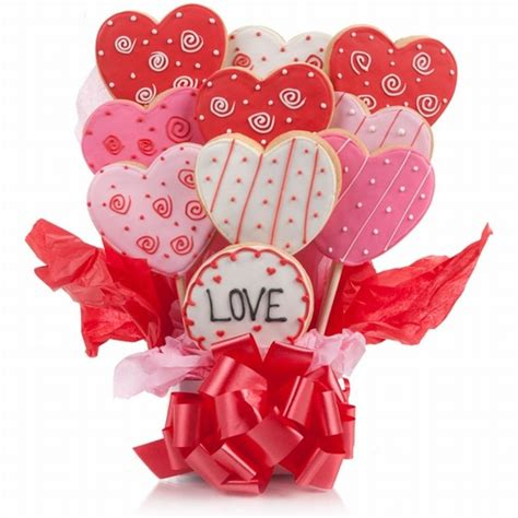 Personalized Gift Ideas by Lovely Hearts Cookie Bouquet Iced Cookies Valentine