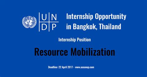 intern opportunity internship opportunity with undp in thailand for 3 months