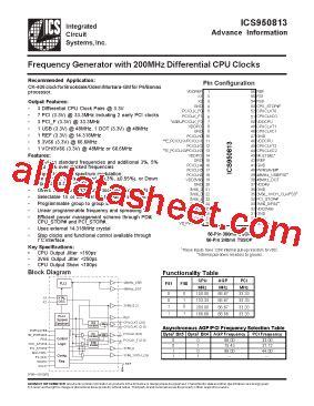 how to read integrated circuit datasheet ics950813 datasheet pdf integrated circuit systems