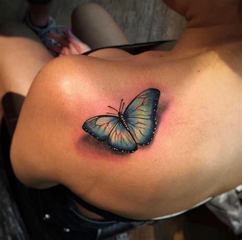3d butterfly tattoos on shoulder www pixshark com