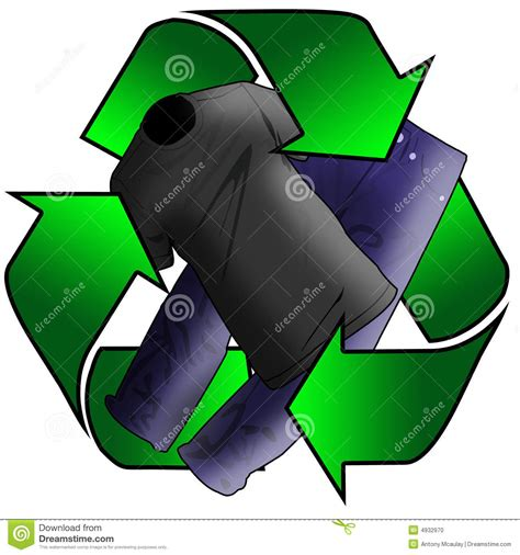 Wardrobe Recycle by Recycled Clothes Stock Photo Image 4932970