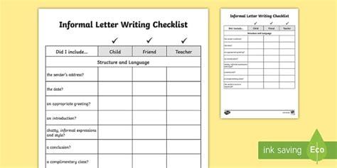 informal letter template twinkl y3 y4 informal letter writing checklist requests ks2