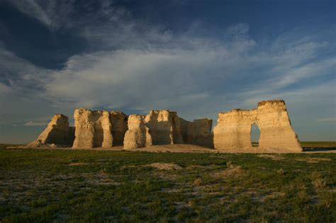 Landscape Rock Ks Monument Rocks Kansas By Hodgesmark Photo Weather