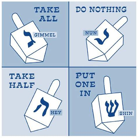 printable directions for dreidel game hanukkah the eight day jewish festival of lights has