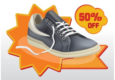 shoes sale vector free vector stock