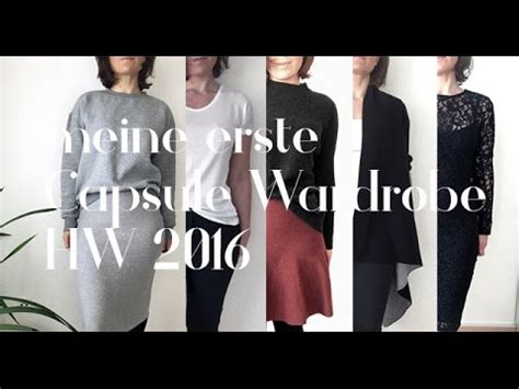 capsule wardrobe deutsch meine capsule wardrobe deutsch herbst winter 2016 youtube