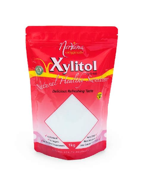 Detox Xylitol by Xylitol 1kg Pouch Pack Nirvana Health Products