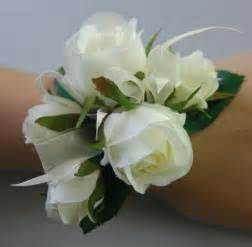 silk corsages silk wedding wrist corsage artificial flower white roses ebay