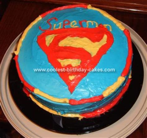 superman template cake ideas and designs