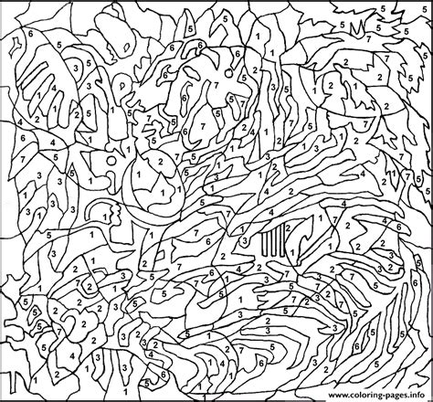 free coloring pages of color by number adult printable color by number pages for adults coloring pages