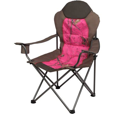 Pink Camo Chair - folding c chair set of 2 high back padded pink camo