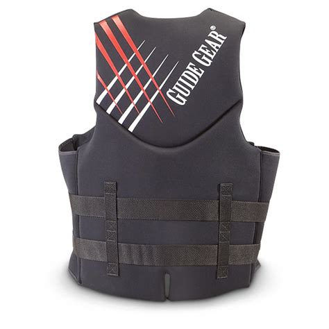 neoprene vest guide gear neoprene segmented vest black 581819 ski paddle vests at