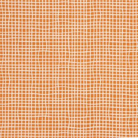 grid pattern light light cream and orange grid pattern organic fabric by