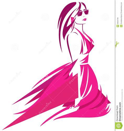 dress design vector fashion clipart fashionista pencil and in color fashion