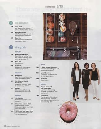 pinterest text layout real simple mag table of contents packaging