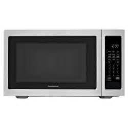 Can Countertop Microwaves Be Built In by Kitchenaid 2 2 Cu Ft Countertop Microwave In Stainless Steel Built In Capable With Sensor