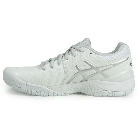 asics gel resolution 7 womens tennis shoe white e751y 0193