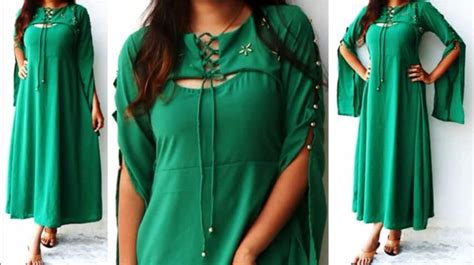 design dress tutorial designer dress with stylish sleeves pattern full tutorial