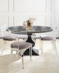 Bernhardt Vivian Inlay Dining Table Nessy Acrylic Dining Clear Acrylic Dining Table And Chairs