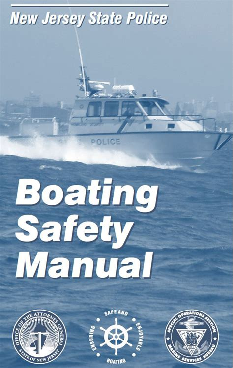 nj boating license laws marine services new jersey state police